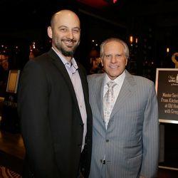 Greg Sherry, right, at the Master Series Dinner at Vegas Uncork'd. Photo: Isaac Brekken