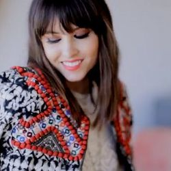 """Blogger and LEAFtv founder Geri Hirsch in Isabel Marant for H&M jacket with beaded embroidered, $399. Check out Geri's adorable video for the collab <a href=""""http://www.youtube.com/watch?v=K8uvEFaV-v8&feature=c4-overview&list=UU3z-Hy2kWd_IxOvZ8sfNi3Q""""targ"""