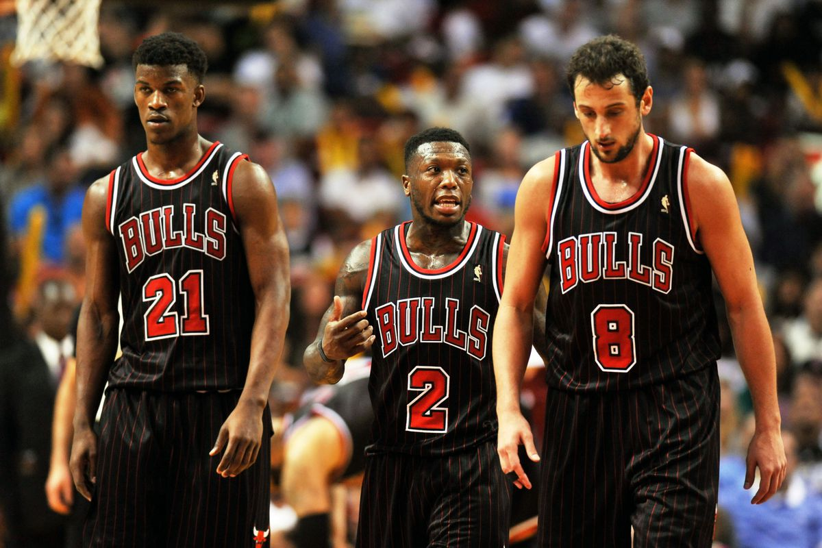Jimmy Butler, Nate Robinson, and Marco Belinelli
