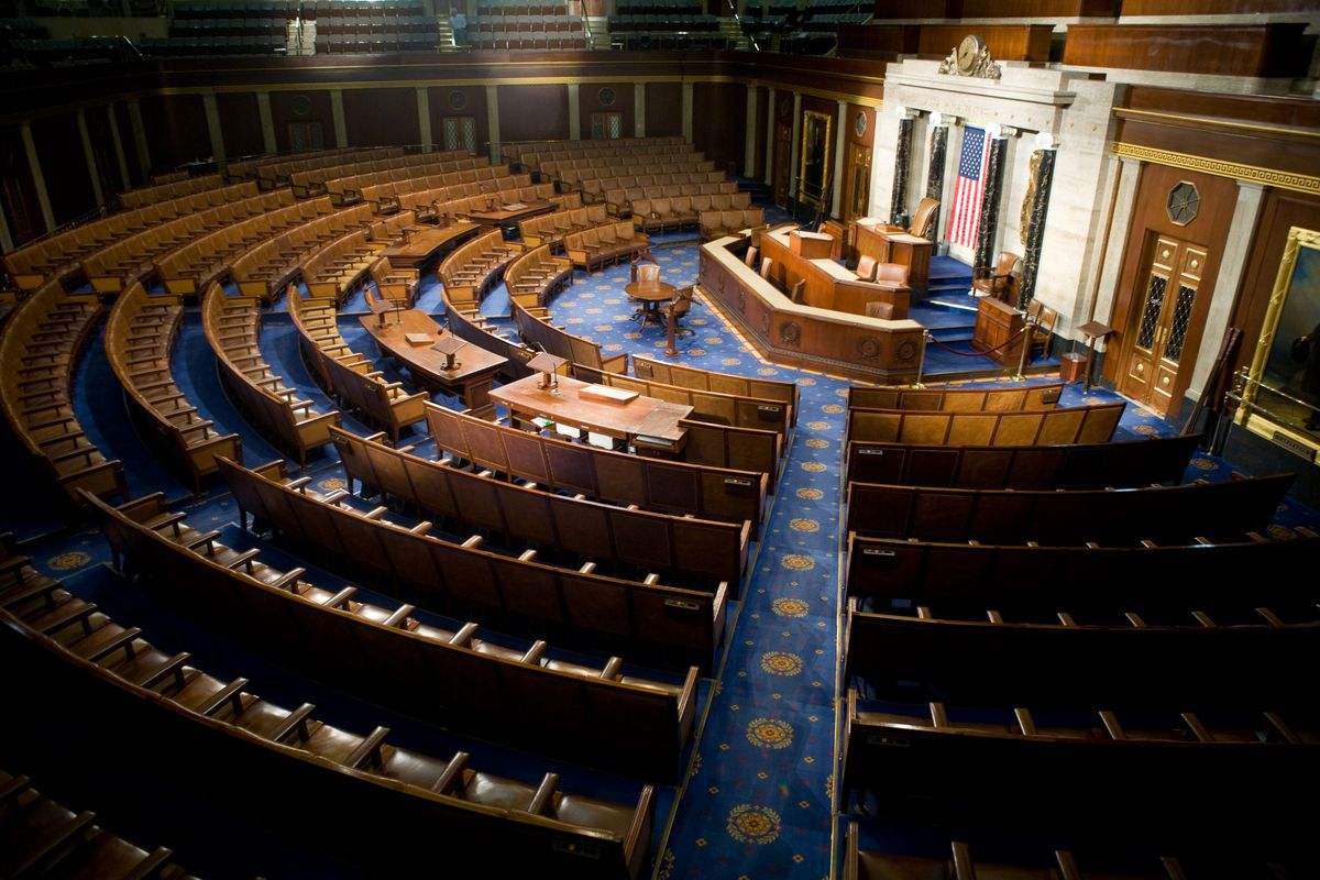 The US House of Representatives chamber.