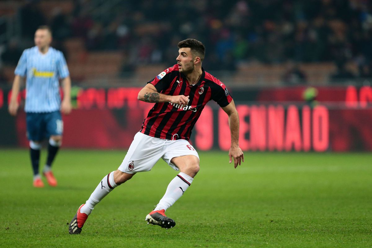 Patrick Cutrone of Ac Milan in action during the Serie A...