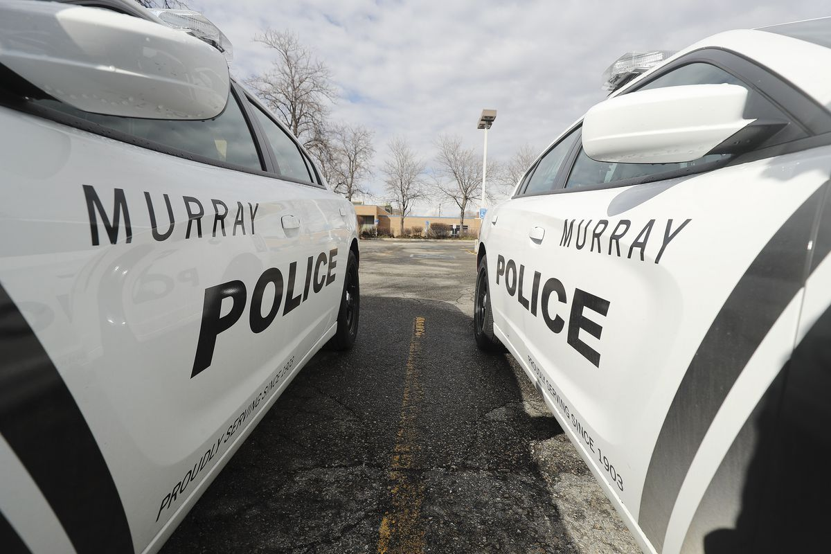 Murray police cruisers are pictured on March 8, 2020.