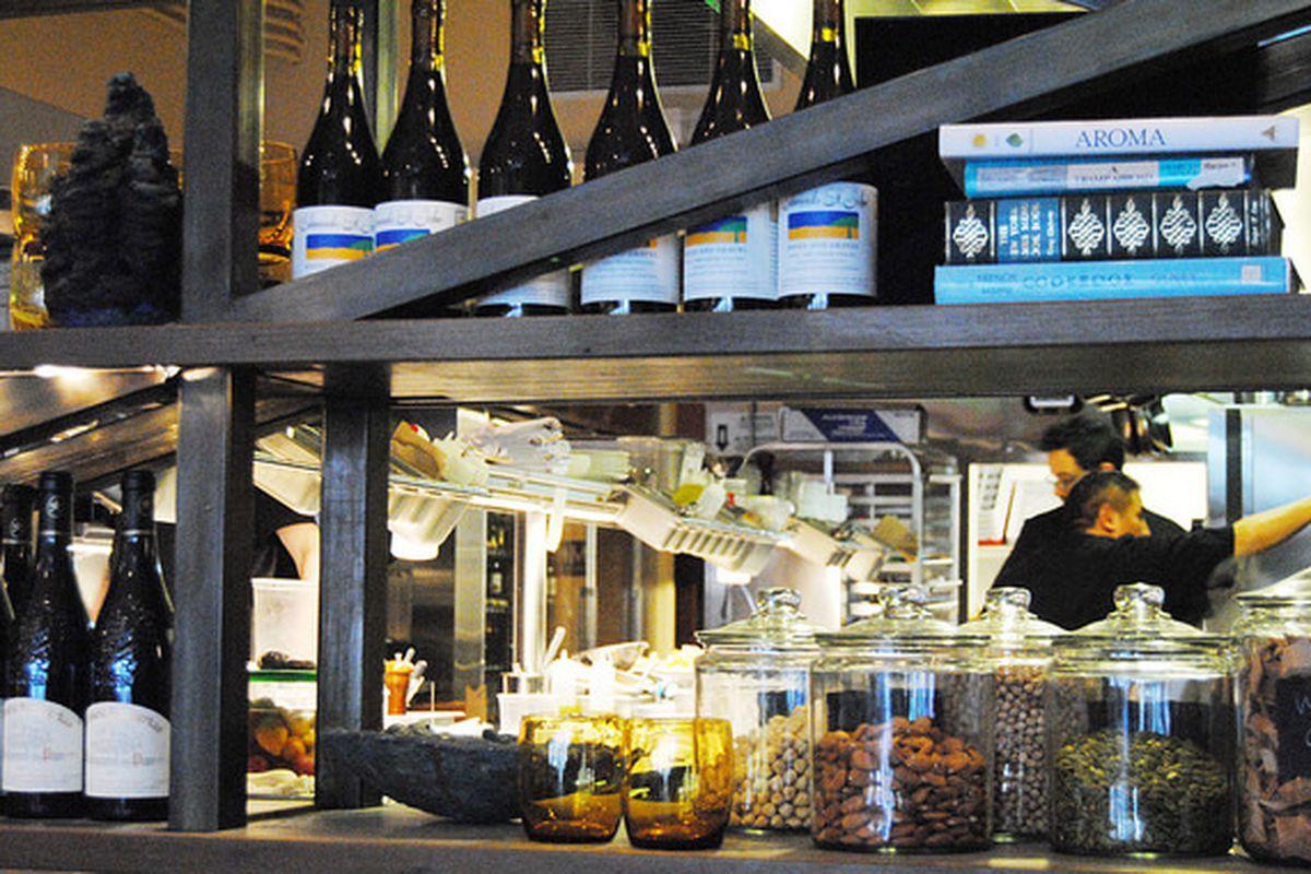 A view into Alta CA's kitchen.