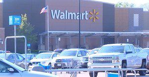 The north suburban Walmart where a Round Lake Beach police officer was hit by a car Sunday afternoon. | Network Video Productions