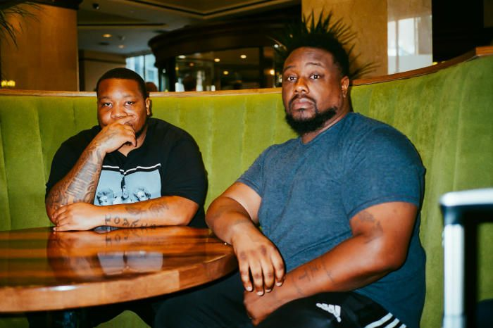 Rapper Big Pooh (left) and Phonte (right) in New York City on August 30th, 2019