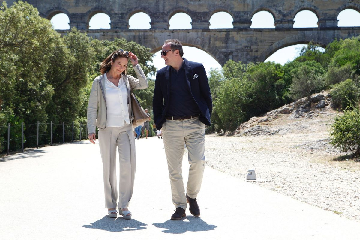 Diane Lane and Arnaud Viard in Paris Can Wait