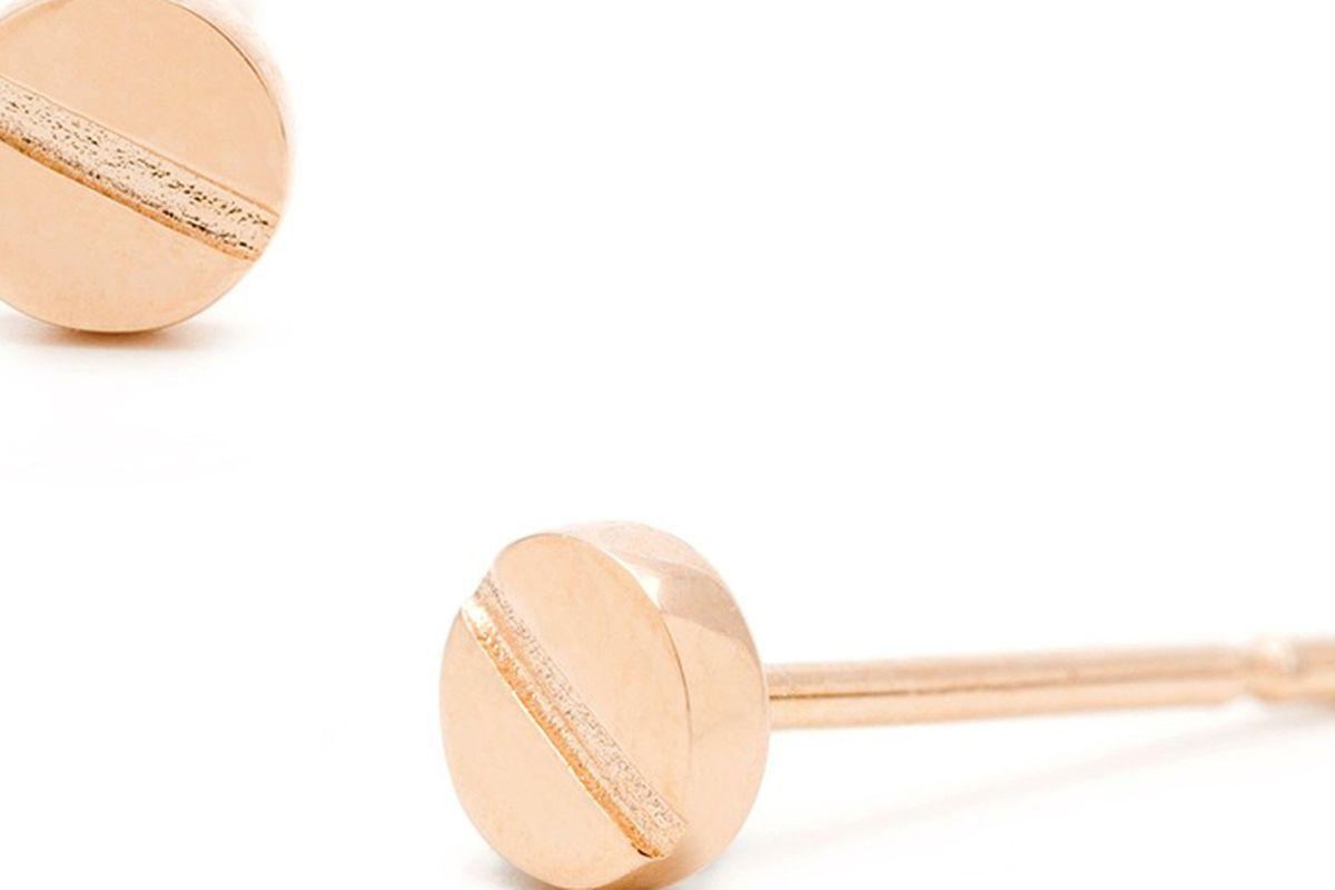 """Chaplin earrings, <a href=""""http://www.gorjana-griffin.com/gorjana/jewelry/earrings/chaplin-studs.html"""">$30</a>"""