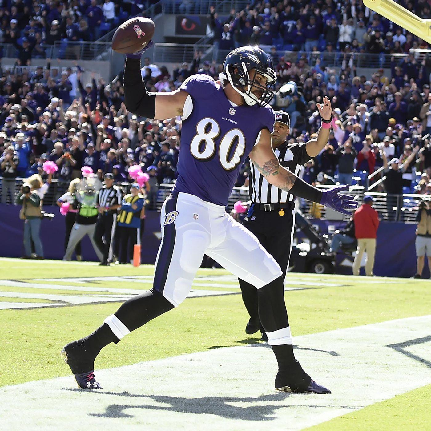 Ravens TE Crockett Gillmore switching to offensive line ...