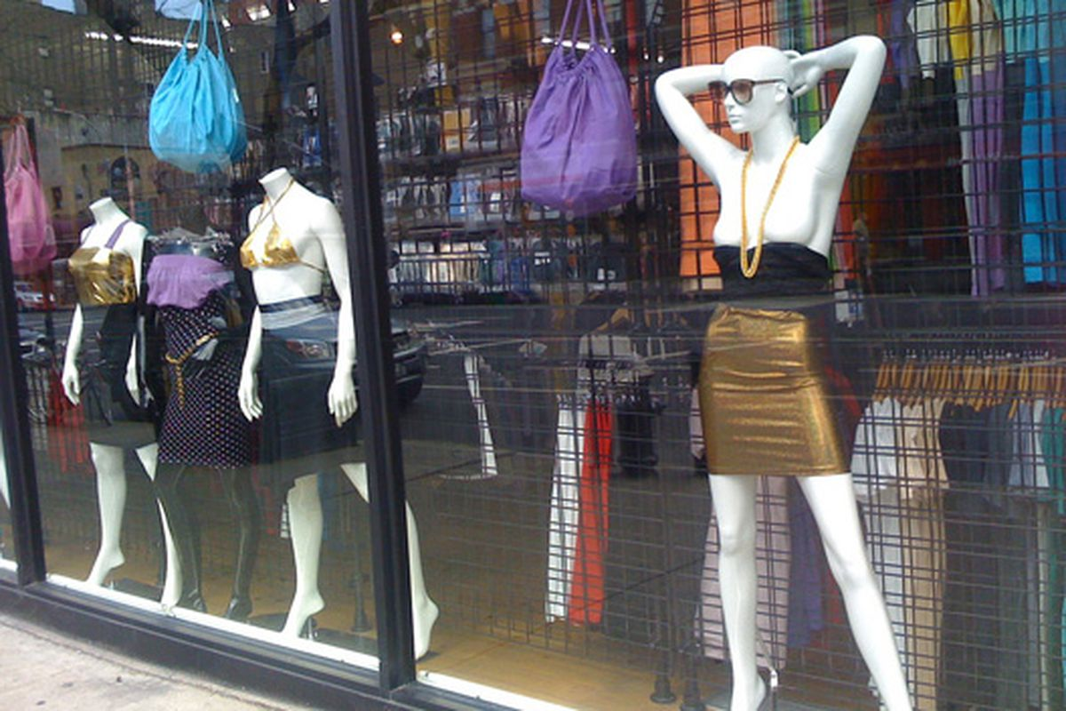"""Mannequins in the window of American Apparel's Chelsea shop via <a href=""""http://www.flickr.com/photos/55661684@N00/2653234056"""">RubyVrooom</a>/Flickr"""