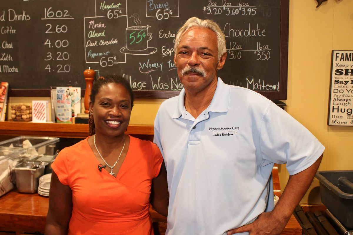 Glynis Harvey and her husbandMark Cagley, owners ofHidden Manna Cafe at 3613 216th St. in Matteson.