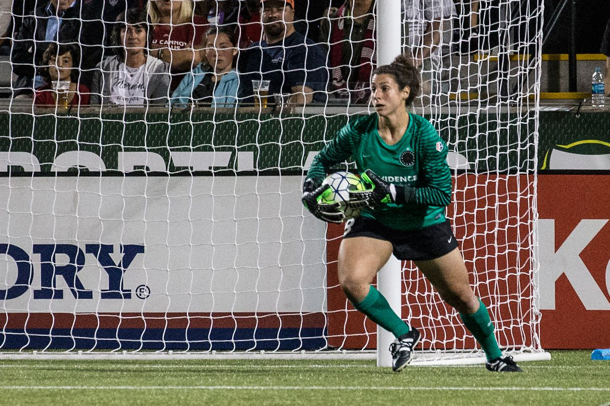 Michelle Betos came up big once again between the posts for the Thorns.