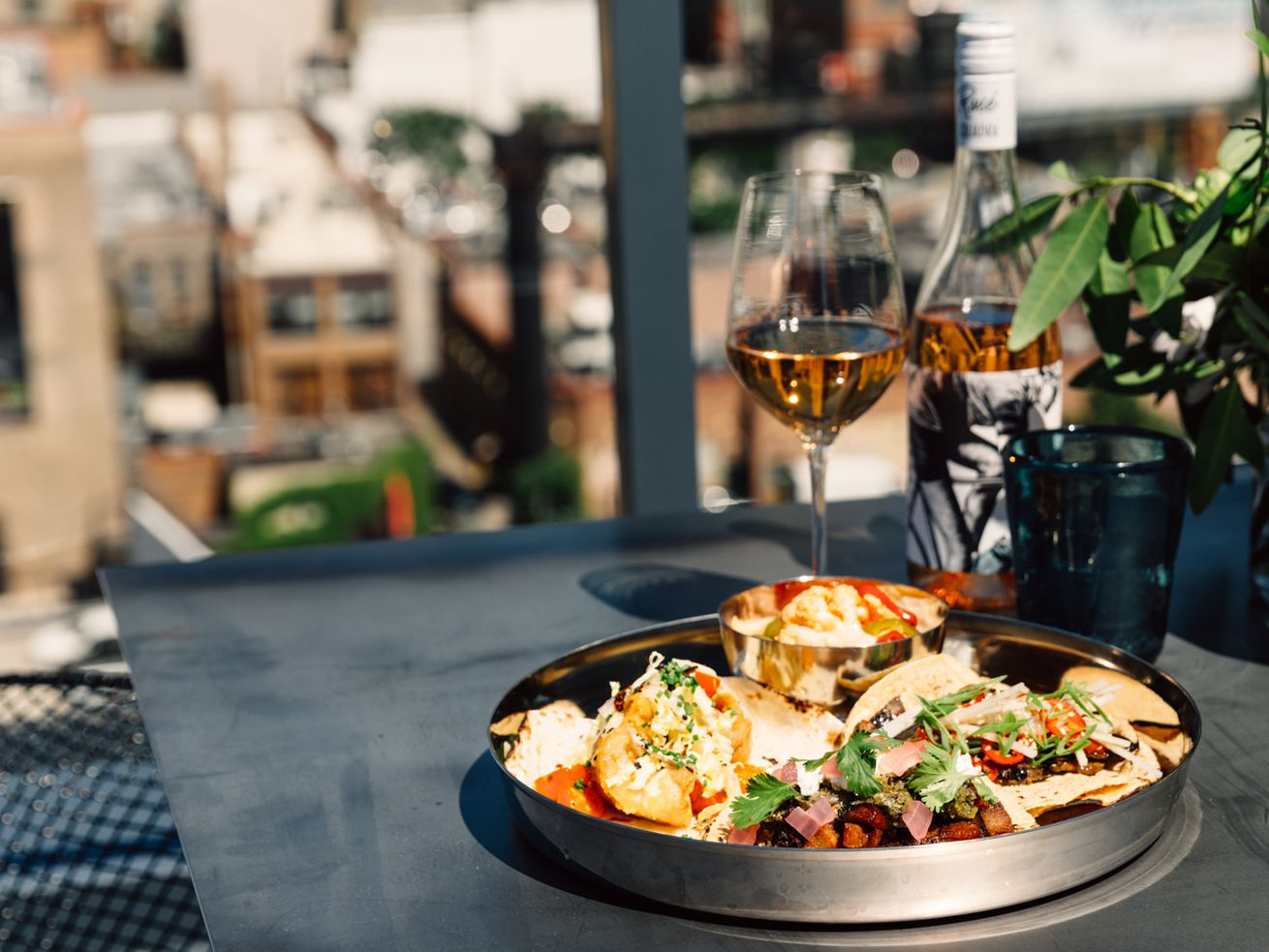 Tacos, rosé, and a view will be featured at the Laurel Room in River North.