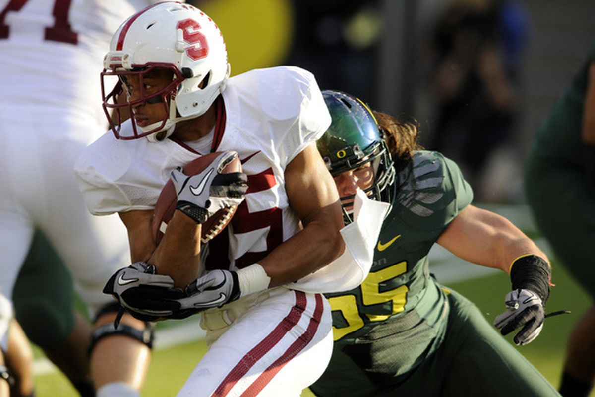 Stanford jumped out to a 21-3 lead, but Oregon had more than enough speed to catch up.