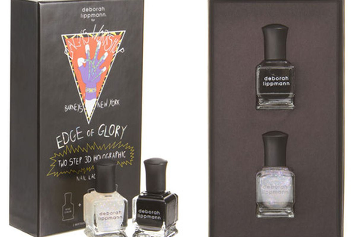 """Deborah Lippman 3D Holographic <a href=""""http://www.barneys.com/Edge-of-Glory-3D-Holographic-Nail-Lacquer/00505014880810,default,pd.html?cgid=GAGA_SALE"""">nail polish</a>, now $29 (was $40)"""