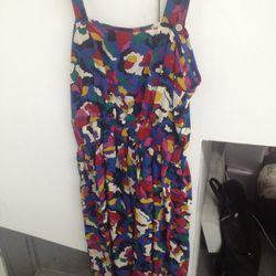 Printed silk dress, $90