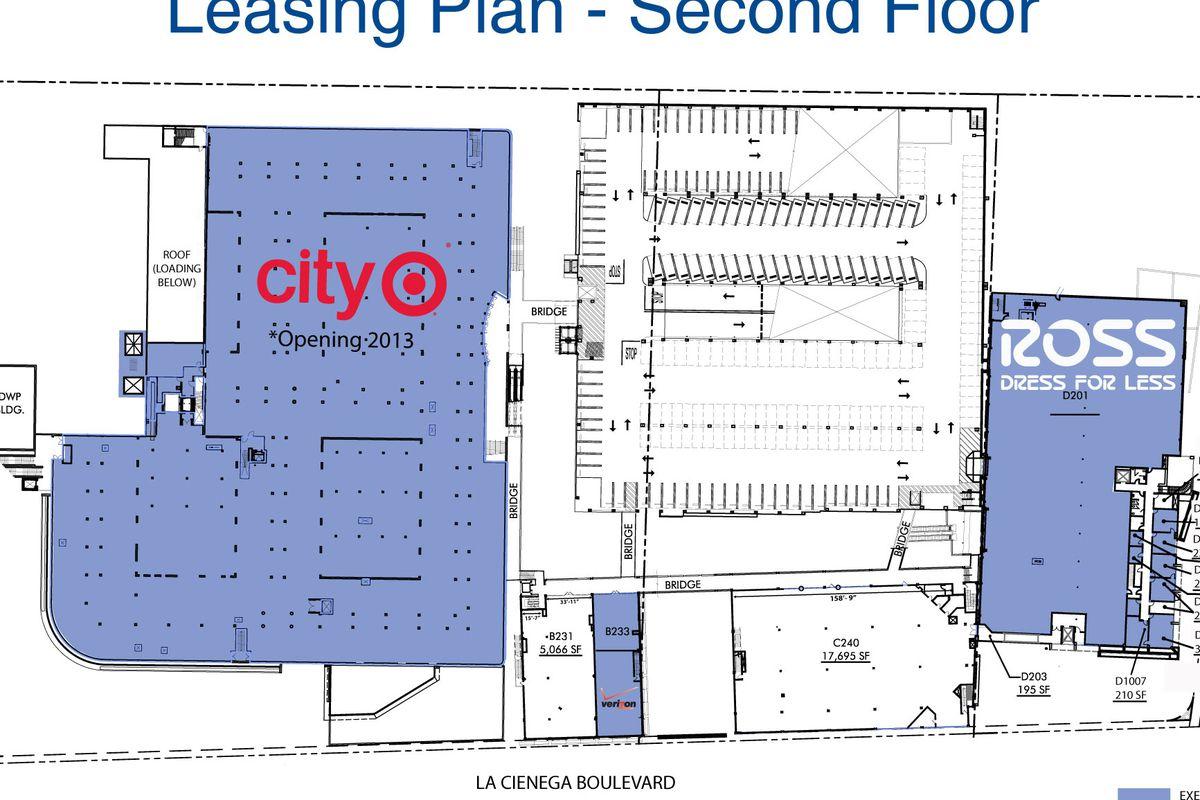 "Site plan via <a href=""http://retail.vno.com/siteplan.aspx?id=BeverlyConnection"">Vornado</a>. Click to expand."