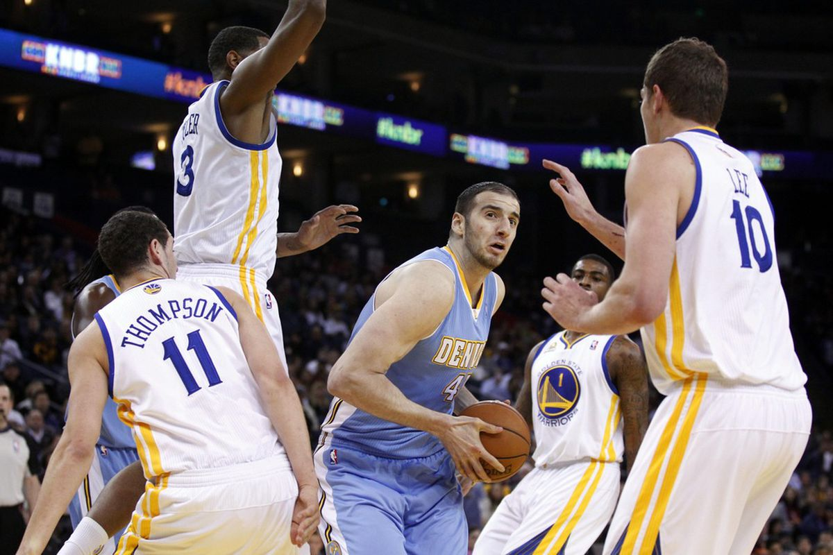 Kosta Koufos and the Nuggets were out-manned all night.
