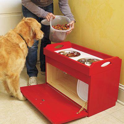 Dog Food Serving Station