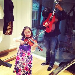 Two adorable HOLA kids performed pieces from Beethoven and Bach