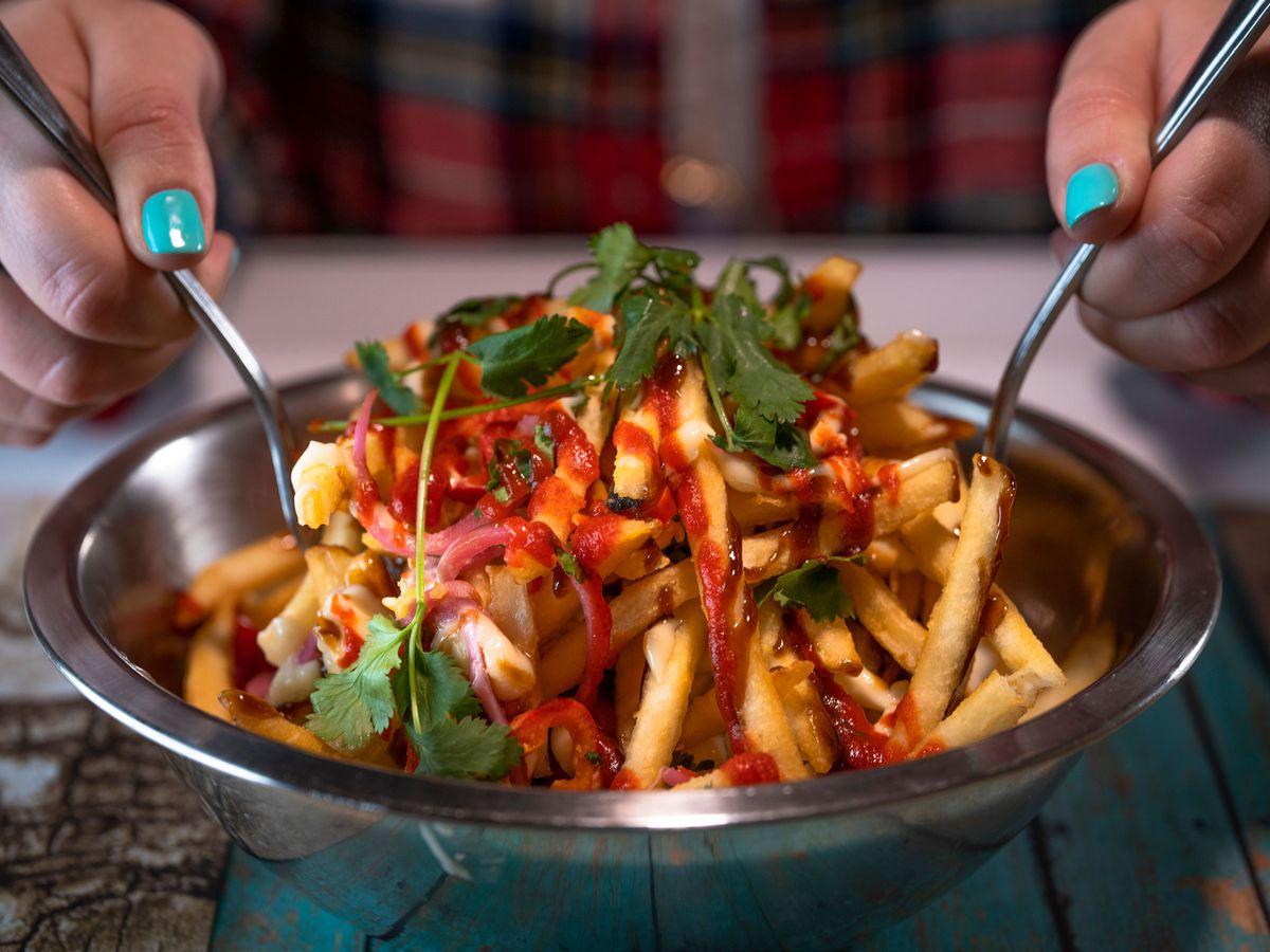 Sriracha Peanut Fries at Punchbowl Social