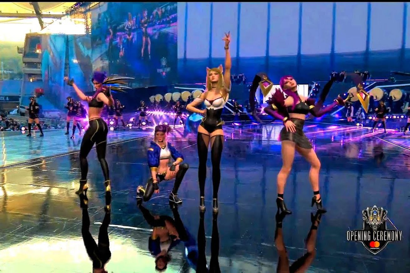 the league of legends world championship opened with an ar k pop concert