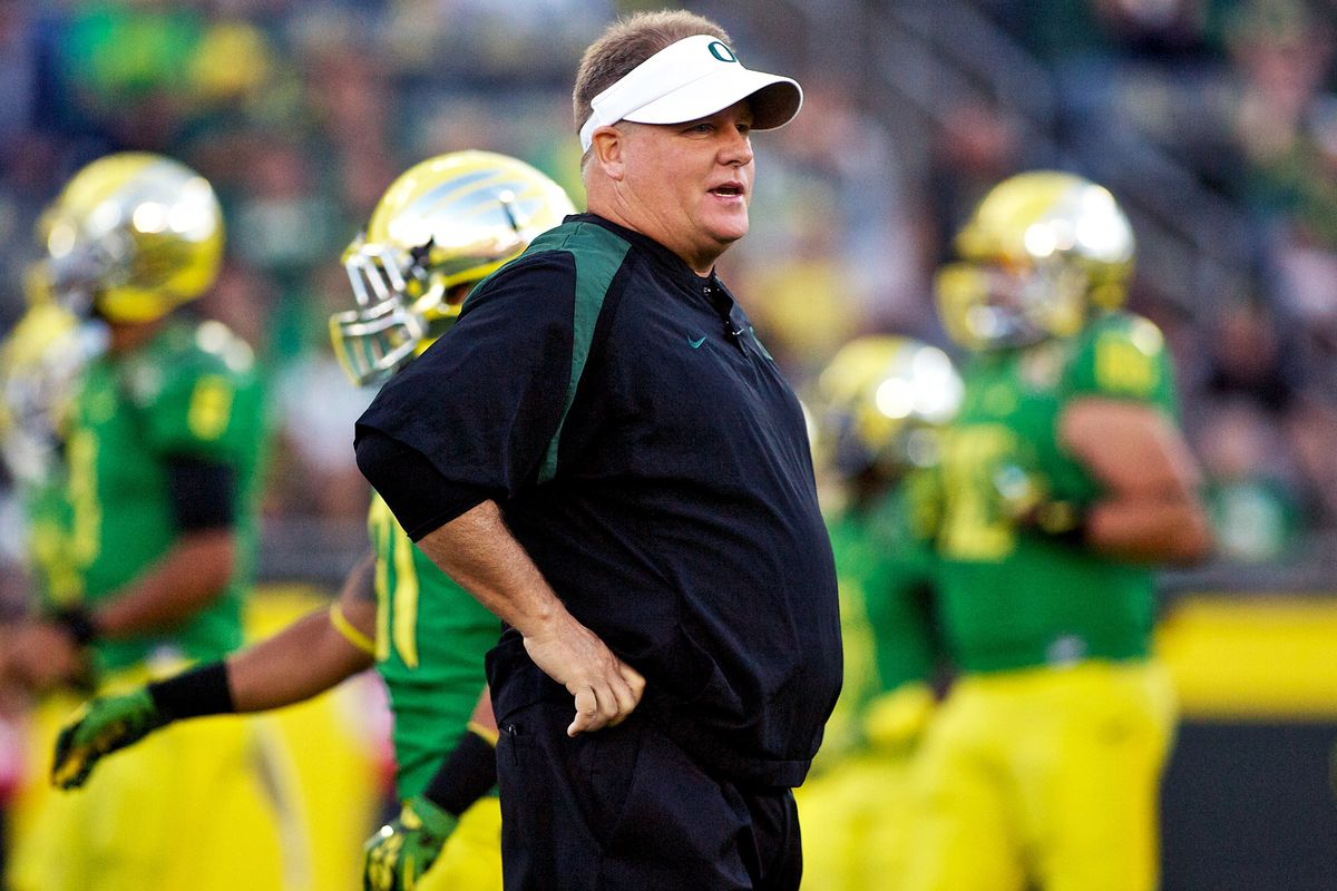Chip Kelly at Oregon (GettyImages)