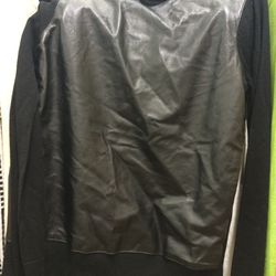Equipment leather sweater, $100