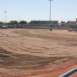 The field as seen from the LF corner
