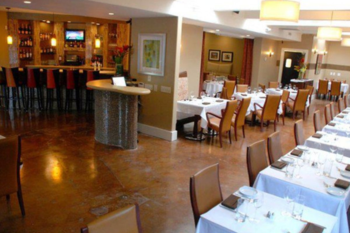 The dining room at La Fourchette.