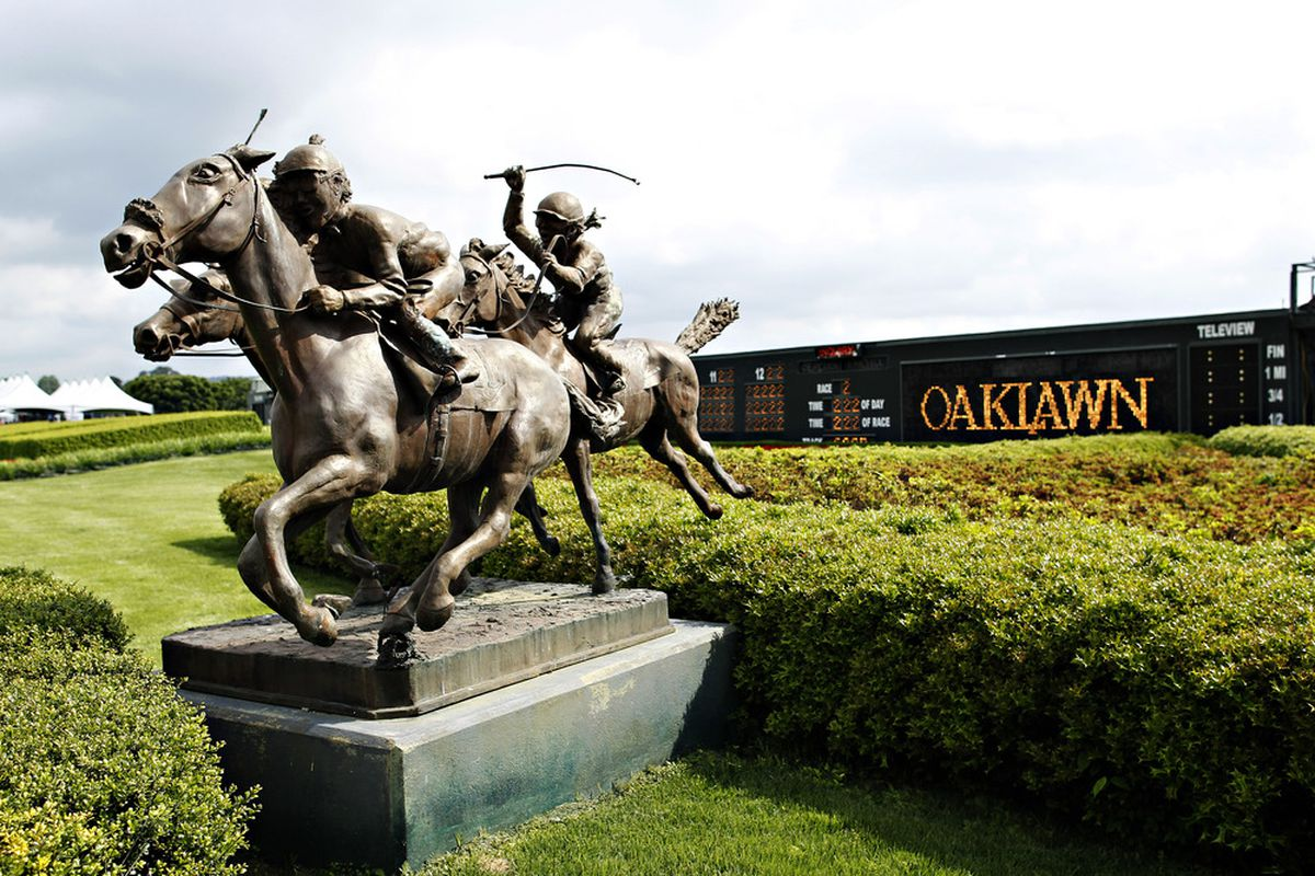 A sunny, beautful, and dry Oaklawn Park in Hot Springs, Arkansas