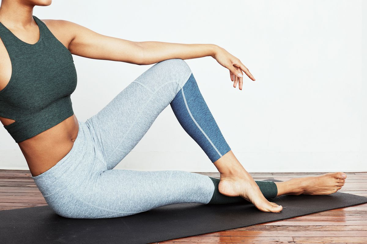 A model wearing workout clothes from Of a Kind x Outdoor Voices