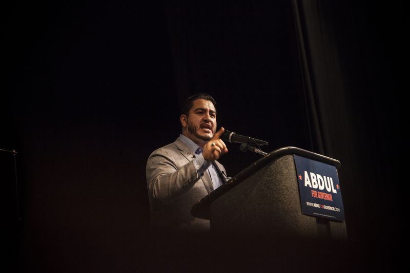 IMG_2425 Progressives want Abdul El-Sayed's campaign for Michigan governor to be their next big victory