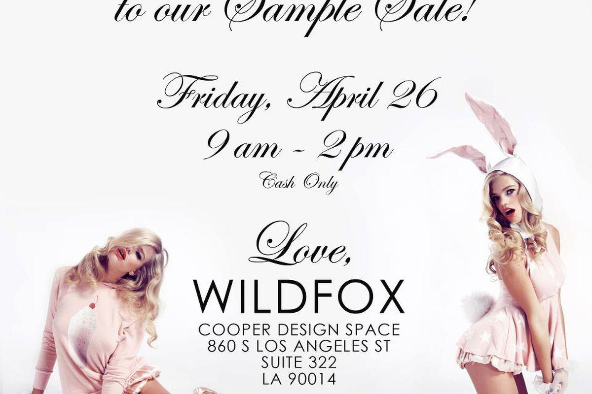 Flyer via Wildfox