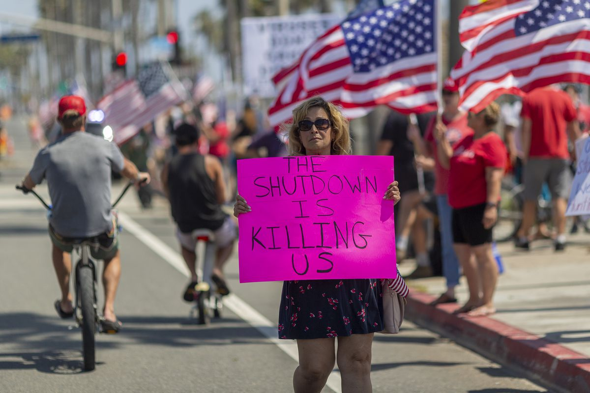 Protests To Reopen Businesses, Beaches, And Parks Held At California Beaches
