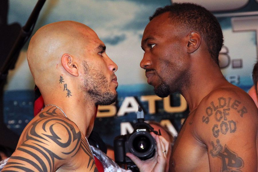 Cotto vs trout weigh in photos and results canelo for Cotto new tattoo