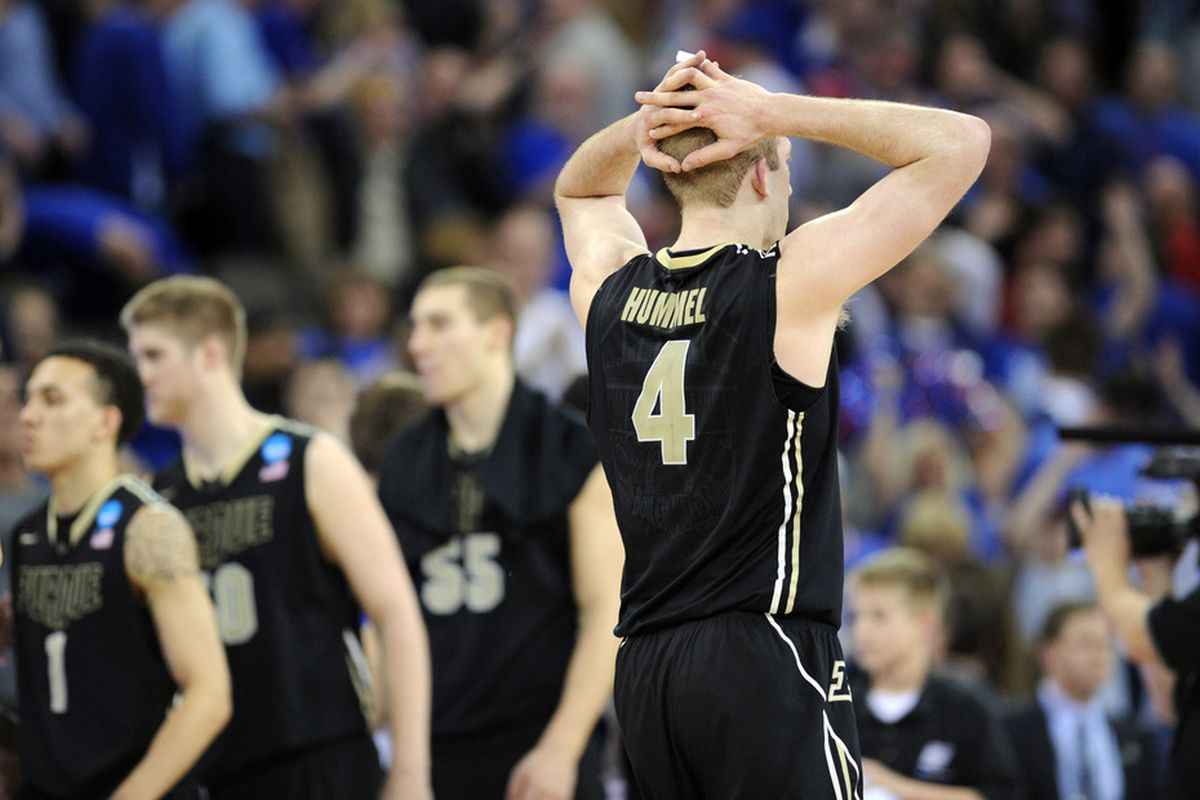 if you don't know why this moment deeply hurt Purdue fans, then you're not a Purdue fan.   Mandatory Credit: Peter G. Aiken-US PRESSWIRE
