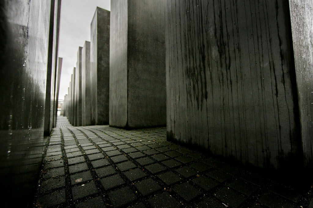 <small><strong>Some of the 2,711 polished marble blocks, or 'stellae' can be seen at the Memorial to the Murdered Jews of Europe, also called the Holocaust Memorial on January 27, 2015 in Berlin, Germany. Thousands of people will come together today to re