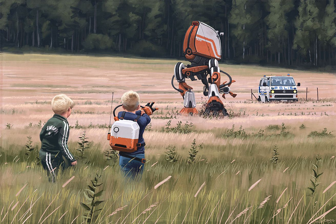 amazon is turning simon stlenhag s haunting retro sci fi paintings into a tv series