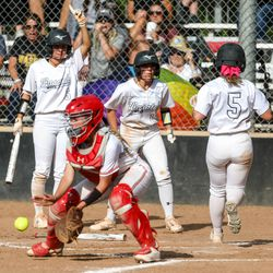 The Wasatch Wasps face off against the Mountain Ridge Sentinels during the 5A quarterfinals at Spanish Fork Sports Park in Spanish Fork on Tuesday, May 25, 2021.
