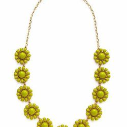 """<a href=""""http://www.gilt.com/sale/women/kate-spade-new-york-jewelry/product/140601356-kate-spade-new-york-green-glossy-garden-necklace"""">Glossy garden necklace</a>, $128 (was $248)"""