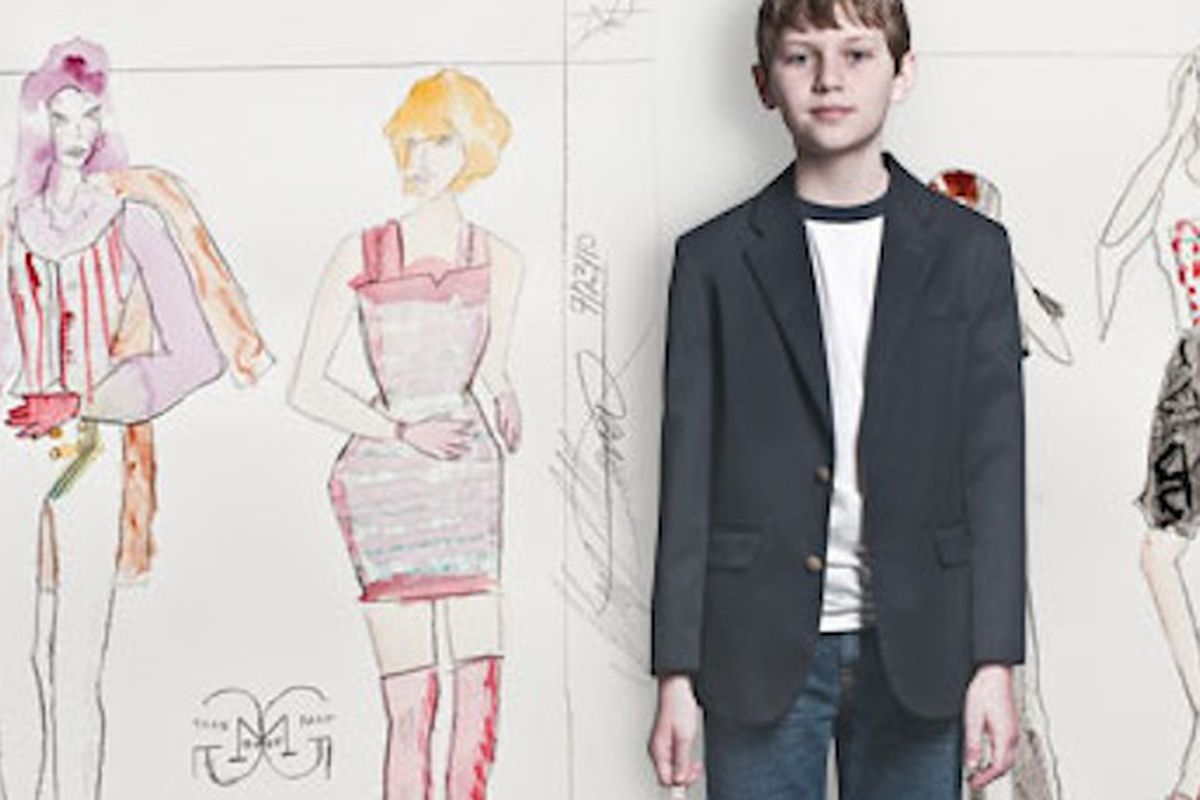 """Would you buy a $500 dress designed by this kid? Image via <a href=""""http://www.dmagazine.com/Home/D_Magazine/2011/February/Grant_Mower_Designs_Dresses_So_Deal_With_It.aspx"""">DMagazine</a>."""