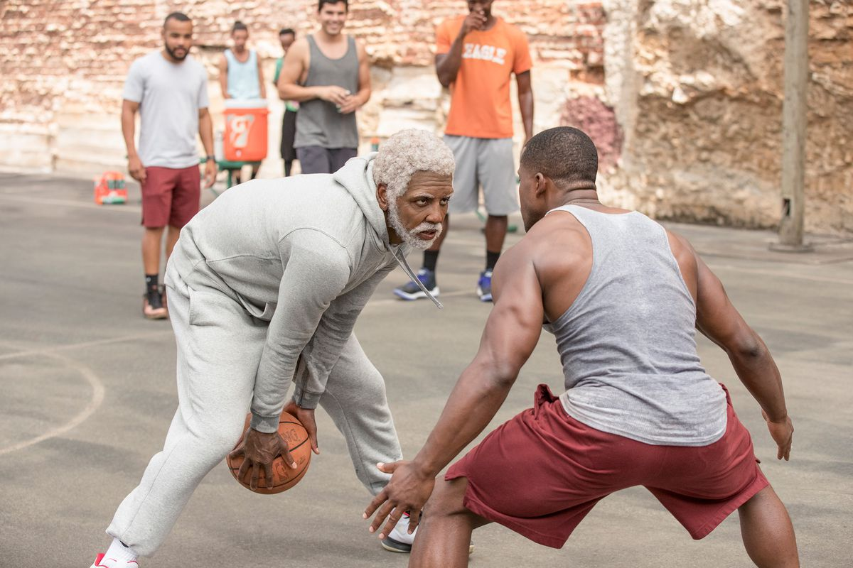 Uncle Drew - Uncle Drew (Kyrie Irving) sizing a guy up