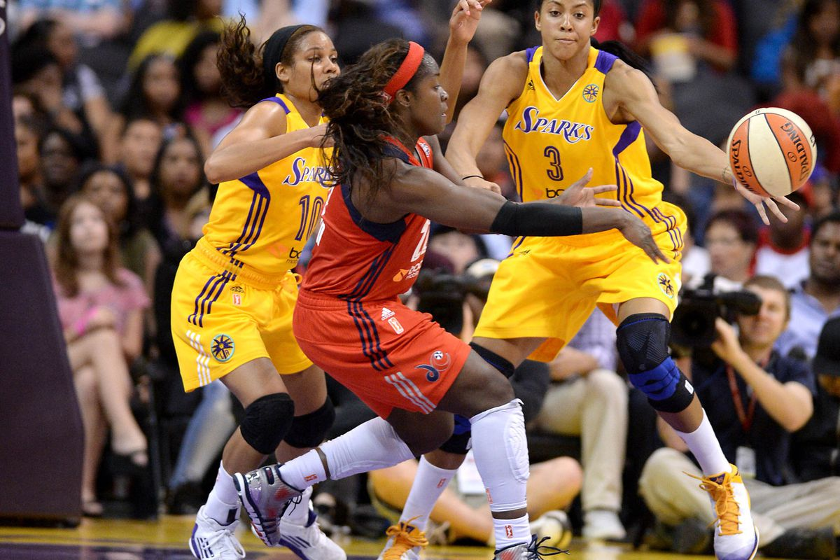 Matee Ajavon got the start in place of Tayler Hill in the Washington Mystics' loss to the L.A. Sparks.