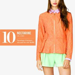 """<b>Forever 21</b> Crochet Lace Jacket in salmon/yellow, <a href=""""http://www.forever21.com/Product/Product.aspx?Br=F21&Category=Outerwear&ProductID=2040494995&VariantID=#"""">$32.80</a>"""