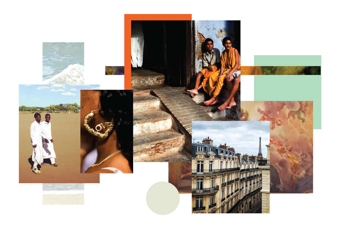 A collage of travel photos from across the world.