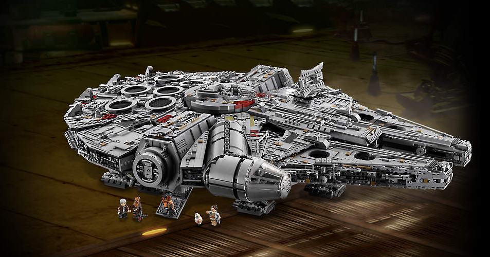 The new 7,541-piece Lego Millennium Falcon is the biggest and most