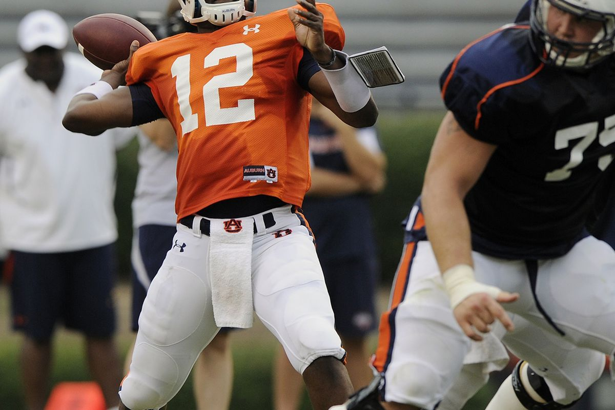 Jonathan Wallace has been at Auburn for what seems like 15 or 20 minutes. Is he in the running to be named starting quarterback? (Todd Van Emst photo)