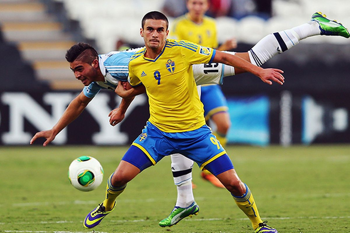 Valmir Berisha in action against Argentina