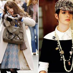 <b>The Devil Wears Prada</b>: Technically, this makeover only really involved giving Anne Hathaway bangs and adding on a lot of blatantly designer accessories. But in the world of faux-<em>Vogue</em>, it was definitely an upgrade.