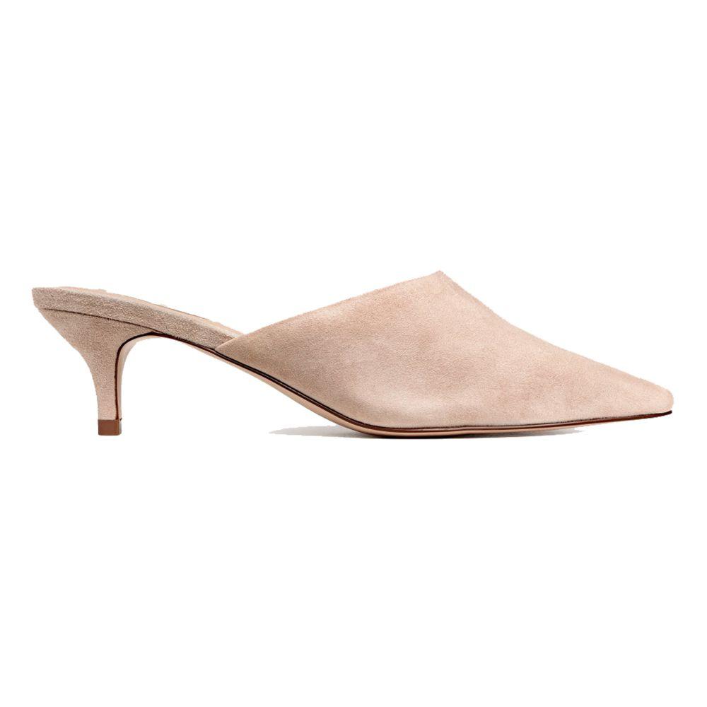 H&M Suede Mules, $50